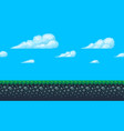 pixel art seamless background with sky and ground vector image
