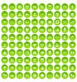 100 sea icons set green circle vector image vector image