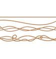 3d realistic jute hemp fiber ropes vector image vector image