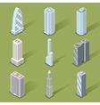 3D Skyscraper Graphic Designs vector image