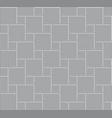 3d tile stone pattern floor vector image