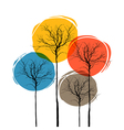 abstract tree seasons concept vector image vector image