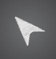 arrow cursor sketch logo doodle icon vector image vector image