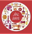 art point hobby and craft painting sewing and vector image vector image