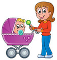 baby carriage theme image 1 vector image