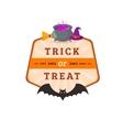 Bat and potion cauldron vector image vector image