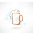 beer grunge icon vector image vector image