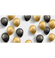 black and golden balloons vector image