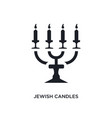 black jewish candles isolated icon simple element vector image vector image