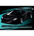 Black midnight racer sports car vector image vector image
