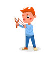 bully boy shooting with slingshot naughty hoodlum vector image vector image
