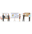 business people in office man shaking hand to vector image