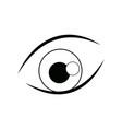 cartoon eye iris vision look icon line vector image