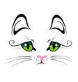 Cat with Green Eyes vector image