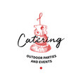 catering logo concept label hand drawn vector image