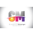 cm c m letter logo design with creative lines and vector image vector image