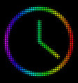 Colored dot clock icon vector image