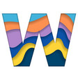 colorful letter w vector image vector image
