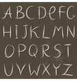 Decorative alphabet on wooden background vector image vector image