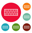 fence icons circle set vector image vector image