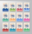 fish fillets labels collection abstract vector image vector image