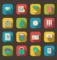 flat colorful icons of web business and financial vector image vector image