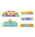 gambling game houses casino exterior facade icon vector image vector image