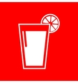 Glass of juice icons vector image vector image
