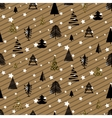 Gold and black christmas winter woods seamless vector image vector image