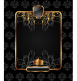 gold vintage frame for design packing vector image