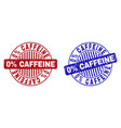 grunge 0 percents caffeine scratched round vector image vector image