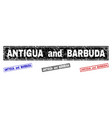 grunge antigua and barbuda textured rectangle vector image vector image