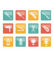 hairdressing coiffure and make-up icons vector image