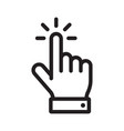 hand click icon mouse clicking pointer vector image
