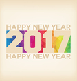 Happy new 2017 year Colorful Triangles polygons vector image vector image