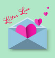 happy valentine day of red heart in letter vector image vector image