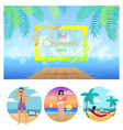 hot summer days collection vector image vector image