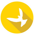 icon dove of peace with a long shadow vector image vector image