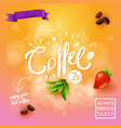 image of coffee objects advertising background vector image vector image