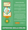 Improving Skills Online Concept vector image vector image