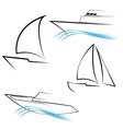 Line Yachts Symbols vector image