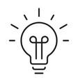 linear light bulb icon vector image
