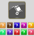 loader Icon sign Set with eleven colored buttons vector image vector image