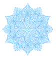 mandala blue indian floral ornament vector image