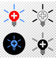 medical lamp light eps icon with contour vector image