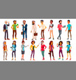 multinational people set different ages vector image