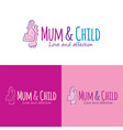 mum and child logo and icon vector image