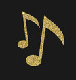 musical notes icon with glitter effect isolated vector image vector image