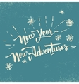 New Year new adventures hand drawn lettering vector image vector image
