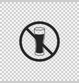 no alcohol icon isolated on transparent background vector image